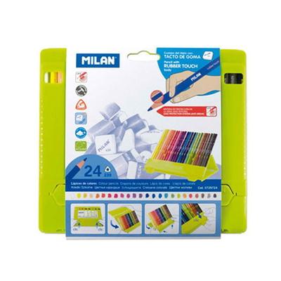 MILAN 밀란 PP박스 24색 삼각 색연필