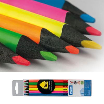 MILAN 밀란 블랙우드 플루오 색연필 (6색)