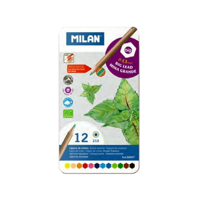 MILAN 밀란 메탈박스 12색 색연필