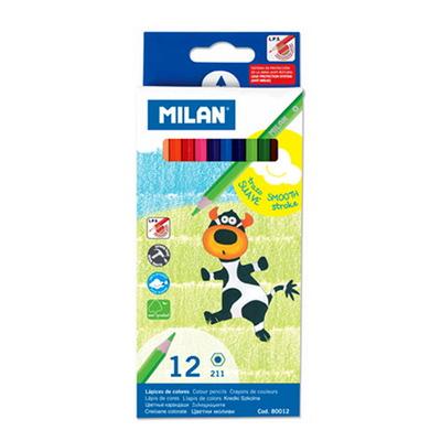 MILAN 밀란 12색 육각 색연필