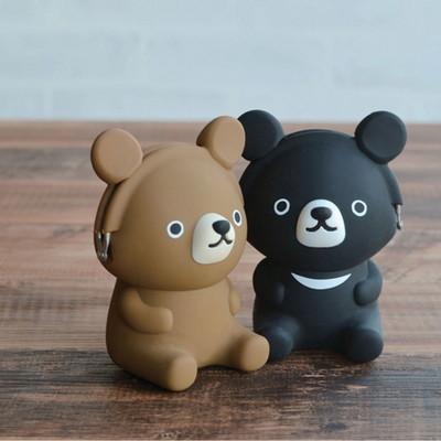 p+g 피지디자인 3D 포치 프렌즈-베어 실리콘 지갑 파우치