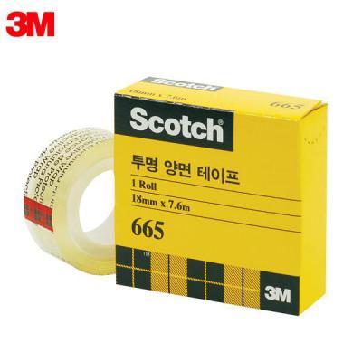 3M 스카치 665B 18X7.6M 투명양면테이프 리필