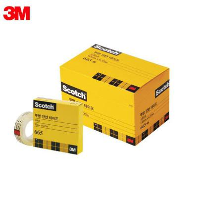 3M 스카치 오피스팩 665R-6 12X6.35M 투명양면테이프 리필