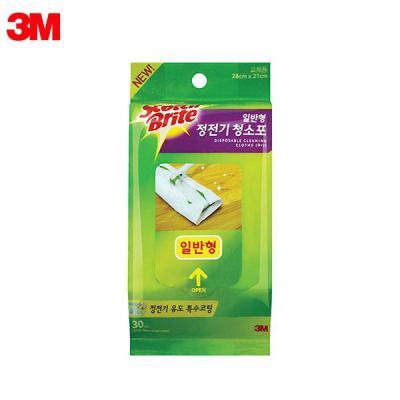 3M 스카치브라이트 일반막대걸레(정전기 청소포 리필 30매)