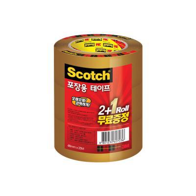 3M 스카치 포장용 테이프 갈색 3625V 2IN1 (48mmX25m)