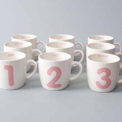 로코 숫자 미니머그 (핑크)
