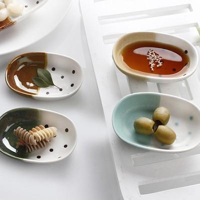 로코 일본산 방울방울 타원종지