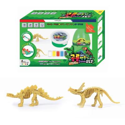 7000 공룡만들기 클레이 그린SET (스테고사우루스, 센트로사우루스)