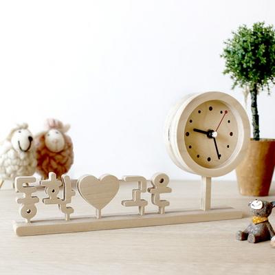 무소음 자작나무 한글 이니셜시계 땡글 K