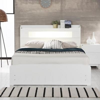 플라망 로라 하이그로시 LED 침대 프레임 Q 퀸