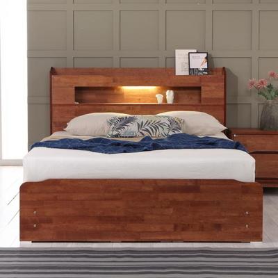 플라망 발루 원목 LED 침대 프레임 Q 퀸