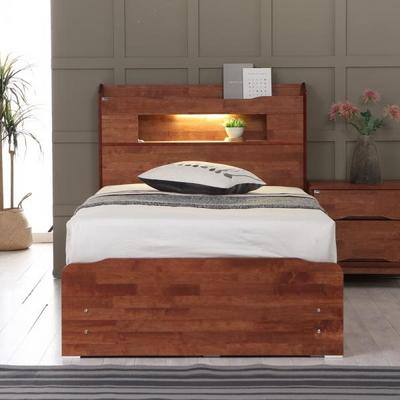 플라망 발루 원목 LED 침대 프레임 SS 슈퍼싱글