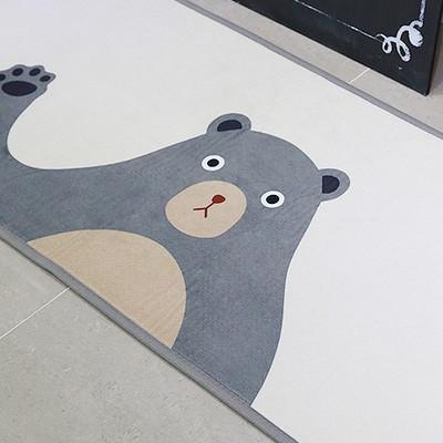 국내제작 디자인 곰 주방매트