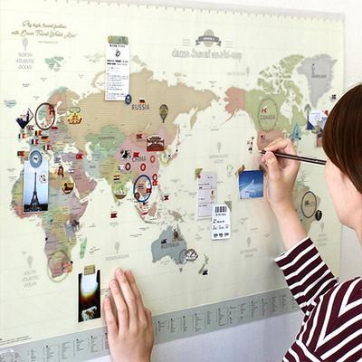 데코 트래블 월드맵 Ver.3 (꾸미는 세계 지도)