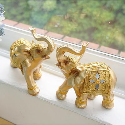 미러 황금 코끼리 2P세트 (소)