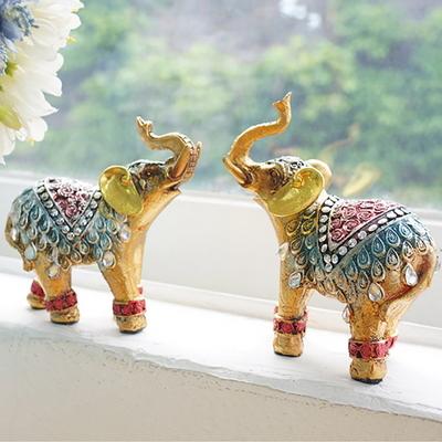 빈티지 컬러 코끼리 2P세트 (소)