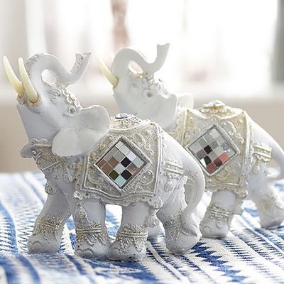 빈티지 미러장식 코끼리 2P세트 (소)