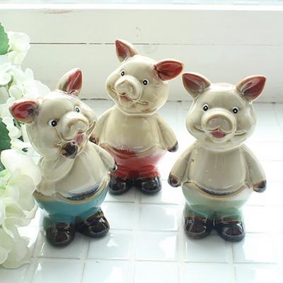 아기 돼지 3형제 장식 세트