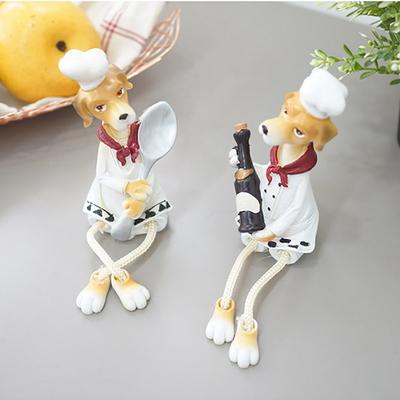 앉은 요리사 강아지 2P세트