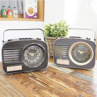 빈티지 라디오 장식 탁상시계 2color