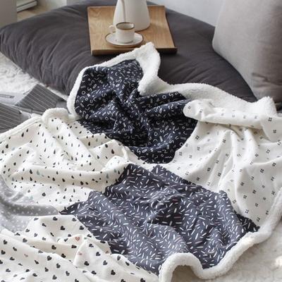 심플 패턴 양털 블랭킷 (이불)