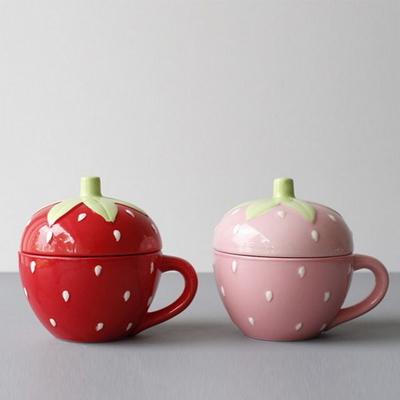 딸기 뚜껑 머그 - 2color