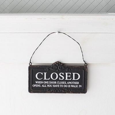 빈티지 오픈 클로즈 양면 사인보드 - 2color