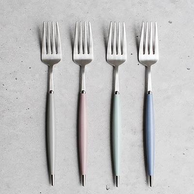 파스텔실버 샐러드 포크 - 4color