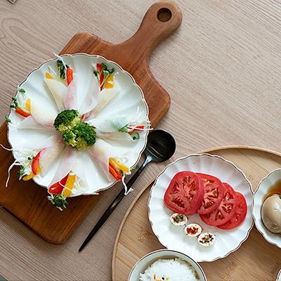 골드크롬 모던엣지 원형접시/종지 (2color)