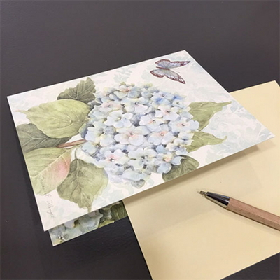 일러스트카드-Blue hydrangea