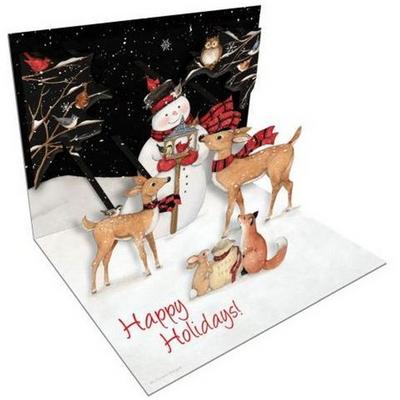 크리스마스 팝업카드 sams snow