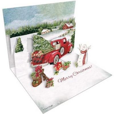 크리스마스 팝업카드-santas truck