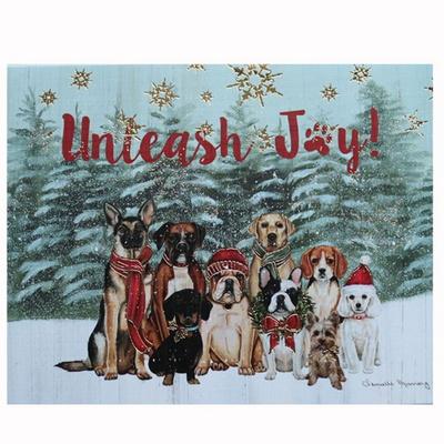 크리스마스 카드 UNLEASH JOY