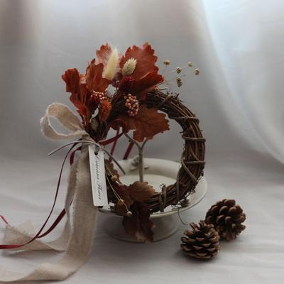 프리저브드 가을오크잎벽걸이리스