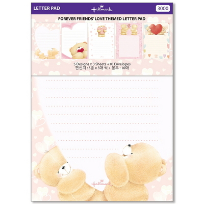 홀마크 곰돌이-동물-꽃 편선지 패드 4종