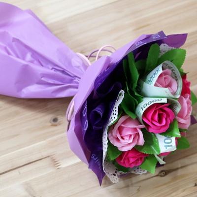비누꽃-꽃다발 돈다발diy