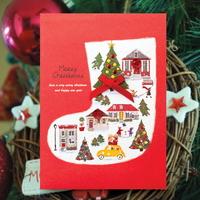양말 크리스마스카드 FS1025-3