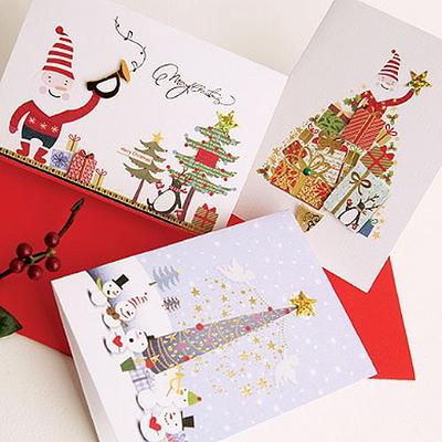FS506(12종) 크리스마스카드 카드 성탄카드 산타카드 트리카드