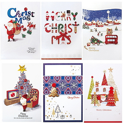 FS1024(6종) 크리스마스카드 카드 성탄카드 산타카드 트리카드