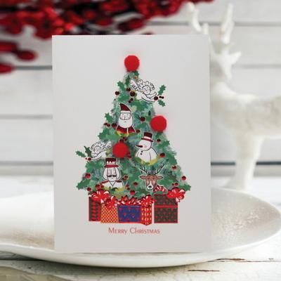 FS1030-3 크리스마스카드 트리 산타 성탄절 루돌프