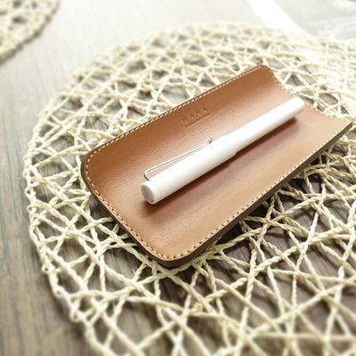 Leather PenTray-India Camel