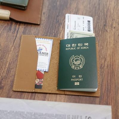 천연가죽 여권커버 (아라비아샌드) - Passport folder