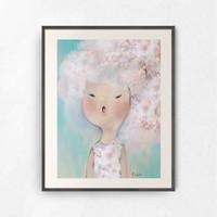 강민경작가 벚꽃소녀 갤러리액자 (TOB47F)