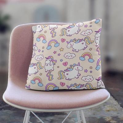 귀여운 인테리어 쿠션 핑크유니콘(KAP05)