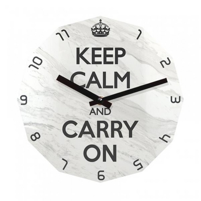 KEEP CALM AND CARRY ON 12각 무소음벽시계 KP12MBW