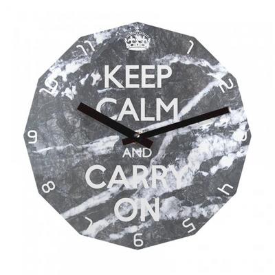 KEEP CALM AND CARRY ON 12각 무소음벽시계 KP12MBG