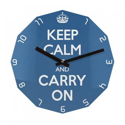 KEEP CALM AND CARRY ON 12각 무소음벽시계 KP12CBL