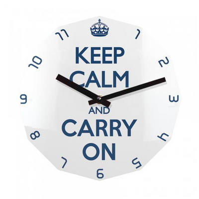 KEEP CALM AND CARRY ON 12각 무소음벽시계 KP12BL