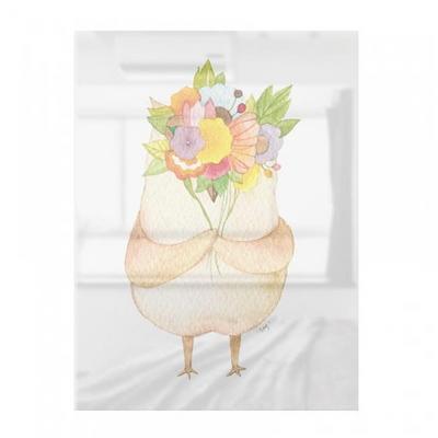 꽃 과 선물 부엉이 대형 아크릴 액자 by 포포(279191)