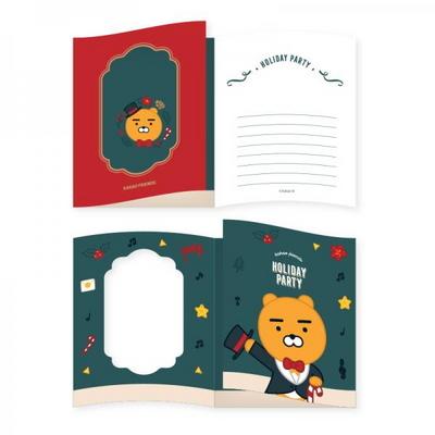 카카오프렌즈 크리스마스 폴딩카드